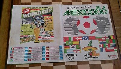 Mexico 1986 86 sticker album panini world cup 98% Full ONLY 10 Missing