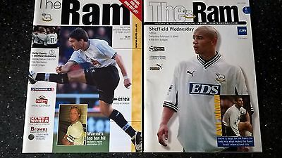 Derby County v Sheffield Wednesday Programmes - your choice