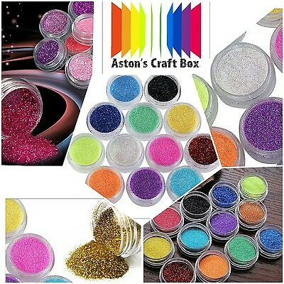 12 Colours Glitter Dust Powder Set for Nail Art Tips Decoration Crafts DIY