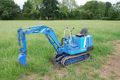 Kobelco Sk007 3/4 Ton Micro Mini Digger Excavator Only 3199 Hours 0.75 - 1 Ton A