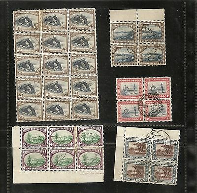 SOUTH WEST AFRICA 1931 values in used blocks