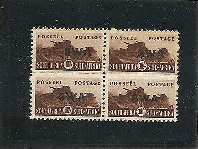SOUTH WEST AFRICA 1943  War Effort 1s SG130 unmounted mint block