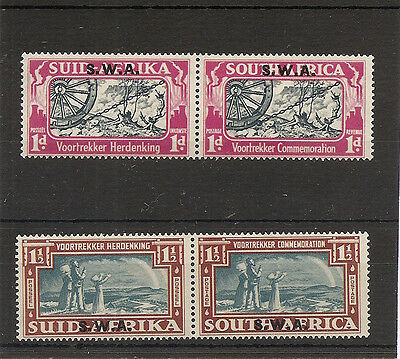SOUTH WEST AFRICA 1938  Voortrekker Commemorative pair  SG109/10 mint