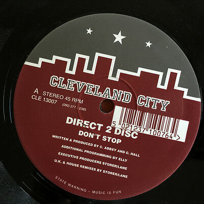 """Direct 2 Disc – Don't Stop 12"""" 1993 - Cleveland City Records  CLE 13007"""