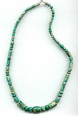 "FOX MINE BOULDER TURQUOISE MIXED  BEADS - 430B - 18.5"" Strand"