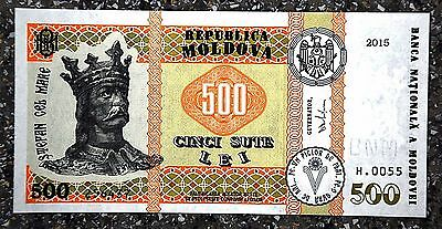 New issue, Moldova new 500 LEI banknote, confirmed, mint, UNC