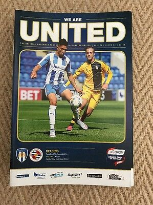 2015/16 Colchester United V Reading - League Cup