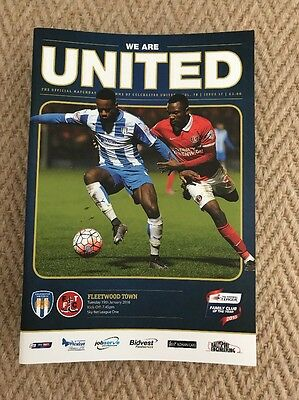 2015/16 Colchester United V Fleetwood Town
