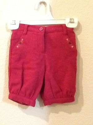 Janie and Jack Girls Baby Paris Pink Knickers Shorts Size 12-18 Months