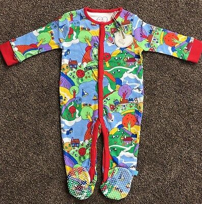 Little Bird Jools Oliver Baby Boys/Girls Countryside Print Sleepsuit 9-12 Months