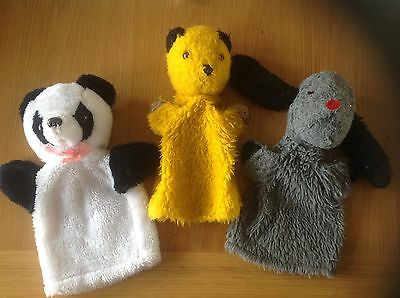 A Very Nice Clean Vintage Set of Sooty, Sweep And Soo Glove Puppets