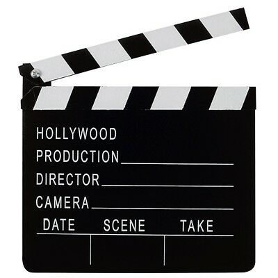 Wooden Hollywood Producer Movie Clapper Board Costume Halloween Party Accessory