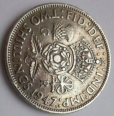 FLORIN - Two Shilling Coin, George VI, 1947, 70 years old