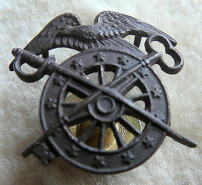 Wwi Officer Quartermaster Corps Branch Insignia Screw Back Collar Device