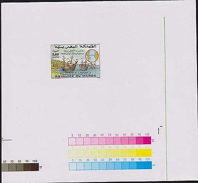 E) 1992 Morocco, Proof, Discovery Of America, 500Th Anniv, 747 A375, S/s, Mnh