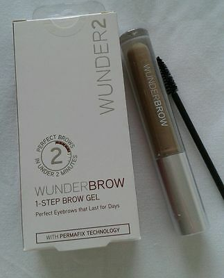 WUNDERBROW The Perfect Eyebrow Gel BRUNETTE BRAND NEW boxed with instructions