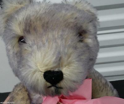 Hermann Mohair Lavender Teddy Bear #380-2000 Fully Tagged Made In West Germany