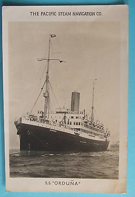 SHIPPING RP Postcard 1947 THE PACIFIC STEAM NAVIGATION Co. S.S.ORDUNA