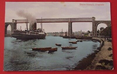 VALENTINES SERIES RP Postcard c.1905 BOYNE VIADUCT DROGHEDA Co.LOUTH IRELAND