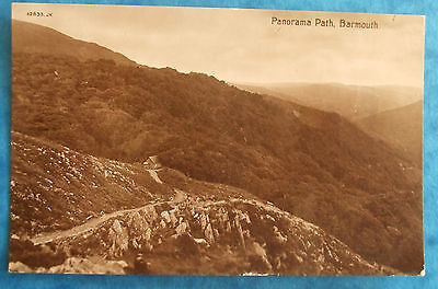 VALENTINES XL SERIES Postcard POSTED 1913 PANORAMAM PATH BARMOUTH MERIONETHSHIRE