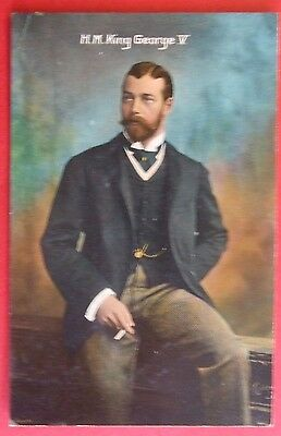 2 ROYALTY Postcards c.1912 H.M.KING GEORGE V & H.M.QUEEN MARY