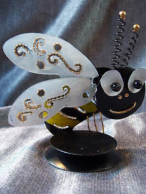 Hand Made Metal Iron Bee Incense Cone Holder Burner