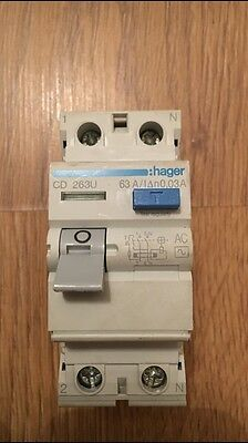 Hager CD263U 63A DP RCD