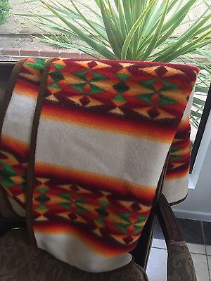 Small Pendleton Blanket 32x44 Beaver State Aztec Native American Indian Tribal