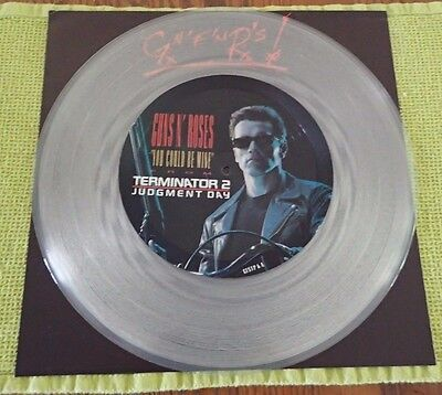 "Guns N' Roses You Could Be Mine From Terminator 2 12"" Clear Vinyl Single"