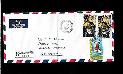 Djibouti 1993   R- Cover Space  Gagarin .See scan.Rare.