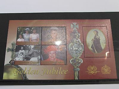 2002 Papua New Guinea Golden Jubilee Miniature Sheet MNH