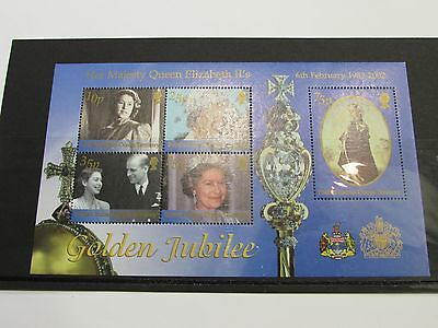 2002 British Indian Ocean Territory Golden Jubille Minature Sheet MNH