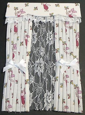 12th SCALE PIGLET CURTAINS
