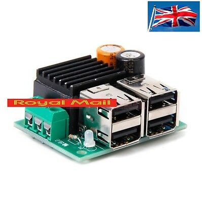 DC9V 12 24V 35V to 3-6V Adjustable Step Down 4-USB Step-down Power Supply Module