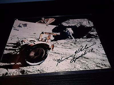 Harrison Jack Schmitt Apollo 17 Moonwalker Signed Lunar Surface 8 x 10 Photo