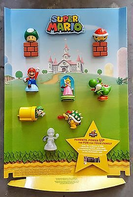 Super Mario collection McDonald's Happy Meal complete set 2017 ( STORE DISPLAY)