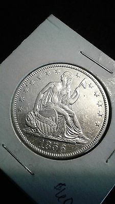 "1856 Seated Liberty Half Dollar ""light clean""  xf details"