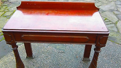 Antique Hall / Side Table Early 1900's Mahogany Unusual Tuned Legs Solid Cond.