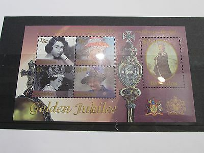 2002 Barbados Golden Jubille Minature Sheet MNH