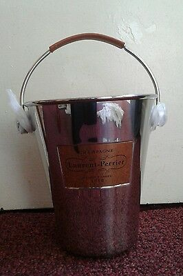 LAURENT PERRIER CHAMPAGNE  BUCKET COOLER BRAND NEW stainless steel.