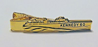 1960 John F. Kennedy PT-109 Boat Campaign Gold Tie Clip FREE SHIPPING IN USA