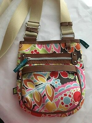 LILLY BLOOM Travel Purse Bag - Shoulder Crossbody Tote Adjustable Multi Floral