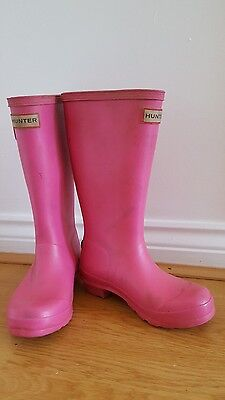 Pink Hunter Wellies size 13