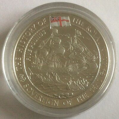 JERSEY History of Royal Navy silver proof £5 2003 Sovereign of the Sea