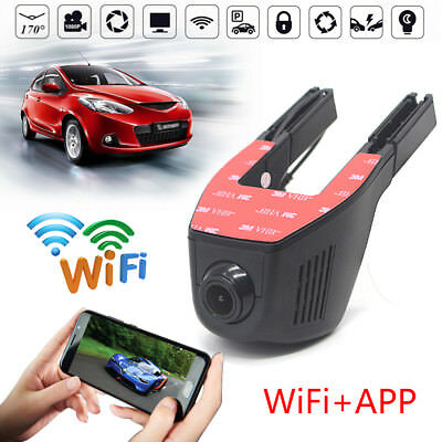HD 1080P Wifi Car DVR Camera Video Recorder Dash Cam G-Sensor IOS Android Phone