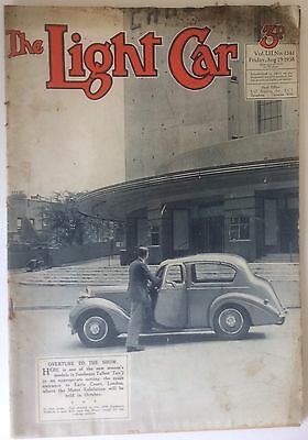 'THE LIGHT CAR MAGAZINE, August 1938, Scarce And Hard To Find