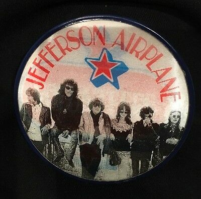 Jefferson Airplane Volunteers Vari- Vue Button 1969 Original
