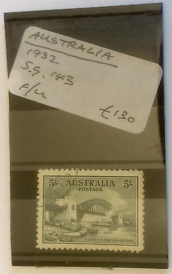 Sydney Harbour Bridge 5/-, 1932 Stamp, Fine, Unhinged