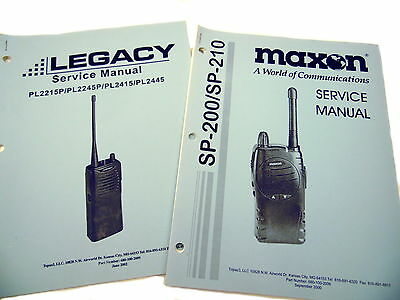 Legacy & Maxon FM Two-Way Radio Service Manuals Set/2
