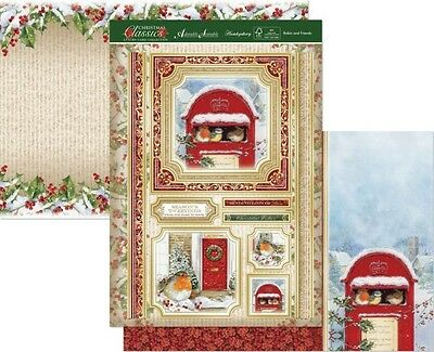 Hunkydory CHRISTMAS CLASSICS Luxury Topper Set ~ ROBIN AND FRIENDS